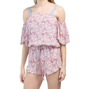 NWT TIARE HAWAII Strapless Cover Up Romper S/M